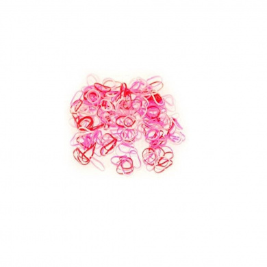 Mytoptrendz® Pink Tone Small Tiny Thin Elastics Rubber Bands Hair Tie