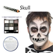 Scary Halloween Skull Complete Makeup Set includes