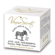 Anti Ageing Cream With Donkey Milk & Argan Oil For Face & Neck - 50ml - Smoothes and Softens The Skin - Anti Oxidant Protection - Provides Deep Hydration - Reduces Wrinkles And Other Signs of Ageing - Increases Skin Tone And Elasticity - FREE UK DELIVERY