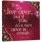 Tree Free You Only Live Once Eco Art Plaque, Metal, Multi-Colour