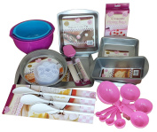 Baking Set Bundle with Mixing Bowls, Baking Tins and Baking Accessories