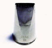 JEM Medium Number 2B Ribbed Nozzle Tip, Silver