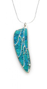 925 Sterling Silver Wing Necklace Pendant Handmade Polymer Clay Dragonfly Jewellery, 46cm