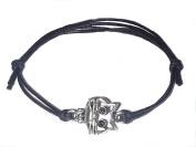 MIWB Hippy Antique Silver Cat Charm Friendship Karma Wish Hope Love Peace Infinity Cord Wish Bracelet
