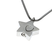 """Urns UK 1.8 x 1.8 x 0.3 cm """"Chelsea Design 54"""" Cremation Ashes Jewellery Pendant with Chain, Silver"""