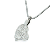 """Urns UK 2 x 1.8 x 0.3 cm """"Chelsea Design 46"""" Cremation Ashes Jewellery Pendant with Chain, Silver"""