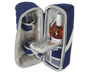 Greenfield Collection Deluxe Navy Blue Wine Cooler Bag for Two People