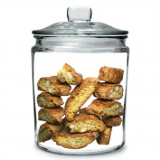 Utopia Biscotti Jar Medium 1.9ltr   Food Storage Jar, Glass Jar, Push Top Jar