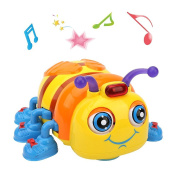 Early Education 3 Year Olds Baby Toy Smart Beetle with Light Music Electric B Bee for Children & Kids Boys and Girls