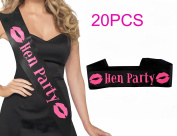 20PCS Hen Party Satin Sashes Ladies Girls Night Out Accessory Wedding Do Sash