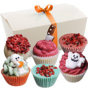 """BRUBAKER 6 Handmade """"Happy Monsters"""" Bath Melts - All Natural Vegan, Organic Shea Butter, Cocoa Butter and Olive Oil"""