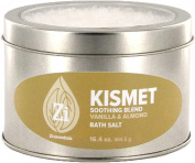 Kismet Feel Good Blend (Vanilla & Almond) Bath Salts. 470ml Windowed Tin - Zi Essentials