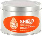 Shield Protective Blend (Orange & Clove) Bath Salts. 470ml Windowed Tin - Zi Essentials