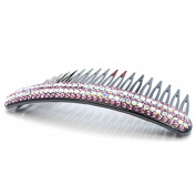 Tinksky Sparkling Rhinestones Inlaid Plastic Comb Hair Clip Hairpin