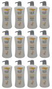 AWARD-WINNING 12 BOTTLES Ivy Silkshine colour & REPAIR DAMAGE CARE Daily Hair Shampoo (950ml / 32 fl oz) by Leivy - Colour and Shine Enhancing, Intensive Repair, Moisturising