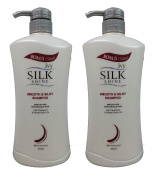 (GET IN ONE WEEK) 2 BOTTLES Ivy Silkshine SMOOTH & SILKY Daily Hair Shampoo (950ml / 32 fl oz each bottle) by Leivy - Moisturising, Straightening, Conditioning, Softening