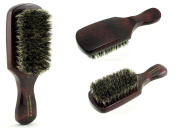 Soft Club 100% Boar Bristle Brush Red Natural Wood