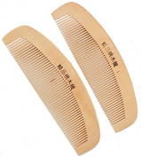 SUKRAGRAHA 2 pc Hair Comb Natural Wooden Anti-static Combs