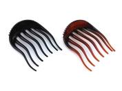 yueton 2pcs Black and Coffee Dish Hair Styling Tool Bumpits Bouffant Braid Ponytail Hair Comb Bun Maker