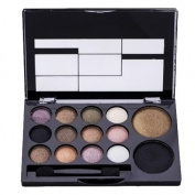 Makeup Palette Set - RIHAO 14 Colour New Makeup Women Natural Warm Eyeshadow+Blush Palette Set with Brush