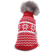 Pet Clothes,Haoricu Winter Warm Christmas Snowflake Sweater Dog Coat chien Pet Clothes Clothing Small Puppy Custome Apparel