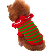 Pet Clothes,Haoricu Winter Warm Christmas Sweater Dog Coat chien Pet Clothes Clothing Small Puppy Custome Apparel