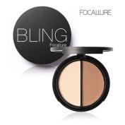 Datework Bling Focallure 2 Diff Colour Concealer Matte Powder