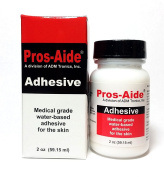 """Pros-Aide """"The Original"""" Adhesive 60ml By ADM Tronics - Professional Medical Grade Adhesive. Dries Clear. Latex-Free! Hypoallergenic. Special Effects Makeup. Works on foam latex and proshetics."""