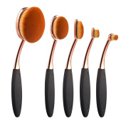 Summifit 5 Pcs Soft Oval Makeup Brushes Set Foundation Contour Concealer Makeup Brush Kit