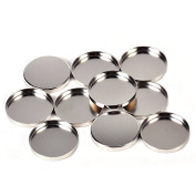 10pcs Empty Round Pans for Eyeshadow Palette 26mm Powder Pot Storage Responsive to Magnets