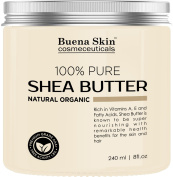 PURE Shea Butter - 100% Natural, Organic Cold-Pressed Raw Unrefined Virgin Premium Grade - Product of Ghana - 240ml