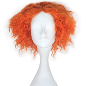 Miss U Hair Men Adult Short Curly Hair Unisex Yellow Orange Lolita Cosplay Costume Wig