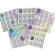 BMC 5 Sheet Holographic Nail Art Vinyl Sticker Guides - Water Marble Collection
