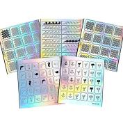 BMC 5 Sheet Holographic Nail Art Vinyl Sticker Guides - Beach Collection