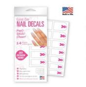 Breast Cancer Awareness Pink Ribbon Nail Decals