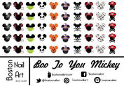 Mickey's Boo To You Halloween - Waterslide Nail Decals - 50pc