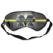 Wolverines Football Logo Natural Silk Eye Mask For Nap