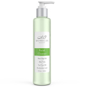 Monica's Beauty Facial Cleanser with Anti-Ageing Hyaluronic Acid, Clarifying Tea Tree Oil, and Soothing Aloe Vera, 180ml