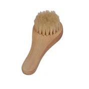 SelfTek Wood Face Cleaning Brush Facial Skin Care Scrub Tool with Natural Bristles
