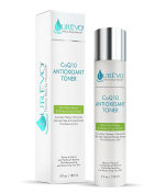 CoQ10 Antioxidant Facial Toner with Hyaluronic Acid, Cucumber, Papaya, Chamomile & Aloe Leaf Extracts