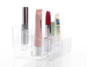 Hosaire Transparent Plastic Makeup Cosmetic Organiser , Lipstick Display Stand With 24 Grid