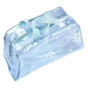 Transparent Waterproof Travel Storage Organiser Makeup Toiletry Bag Light Blue