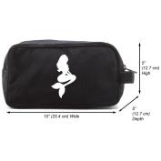 Mermaid Cartoon Canvas Shower Kit Travel Toiletry Bag Case
