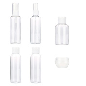TRENDINAO Travel Bottles for Makeup Cosmetic Toiletries Liquid Containers Leak Proof Portable Travel Accessories - Clear (6PCS