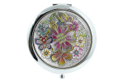 Lovely Butterfly Butterfly Stained Glass Design Compact Mirror