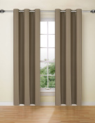Ifblue Best Room Darkening Thermal Insulated Grommet Window Curtains -Blackout Curtains Drapes for Bedroom, Living Room, Kids Room-2 Panels 110cm X 160cm each, Brown