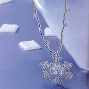Christmas Snowflake Necklace Jewellery Making Kit and beading diagram