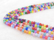 COIRIS 4MM Faceted Dyed Mixed Abacus Stone Gem Round Loose Stone Beads for Jewellery Making & DIY & Design