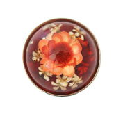 Lovmoment Manmade Amber with Flower Snaps Buttons Jewellery Charms