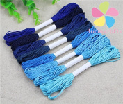 8pcs/lot,7m/pc Multi colours option 6 shares length 7m anchor cross stitch cotton embroidery thread